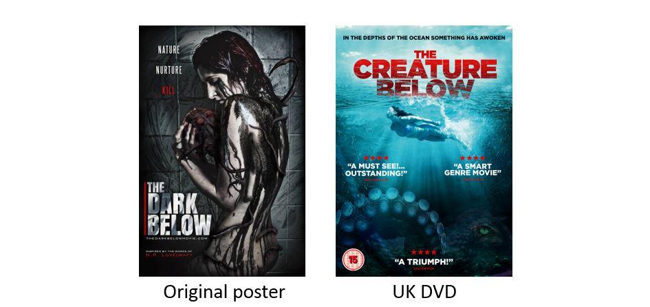 THE CREATURE BELOW comparison